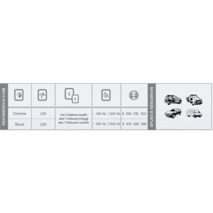 Klakson EC9C Mobil Bosch Set