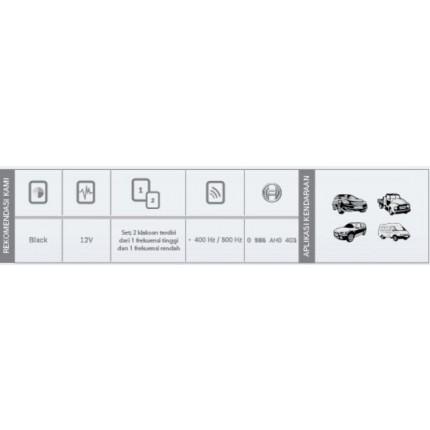 Klakson EC6 Bosch Mobil Set