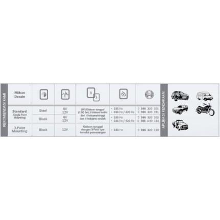 Klakson Eropa FC4 24V Mobil Bosch Set