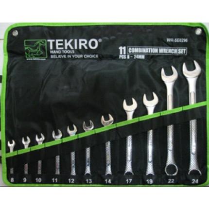 Kunci Ring Pas Set 11pcs Merk TEKIRO 8-24mm