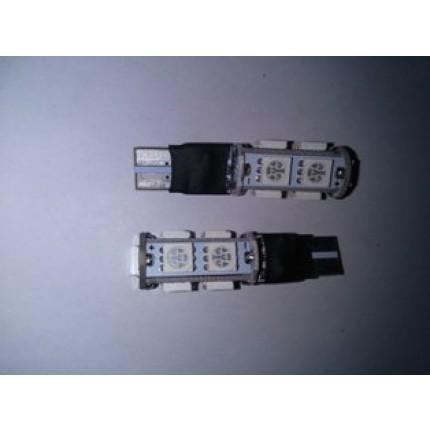 LED T10 9SMD 5050 12V BIRU BLITZ