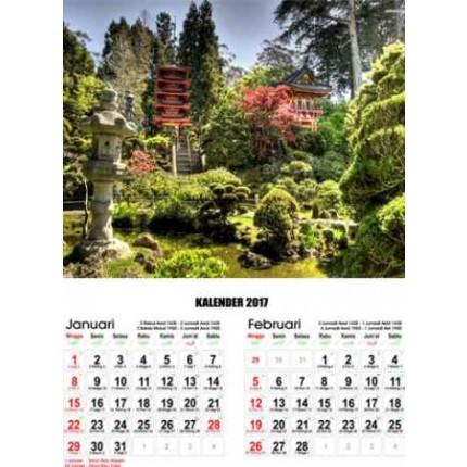 Kalender Pemandangan Sejuk Dan Indah
